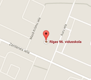 Riga school 96 on the map
