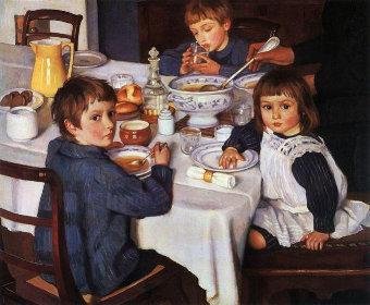 Bērni ēd