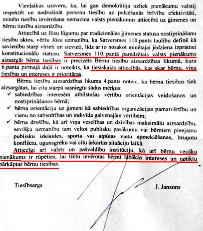 Dokuments. Paraksts: J. Jansons