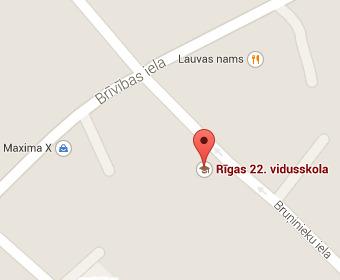 Рижская 22-я средняя школа на карте