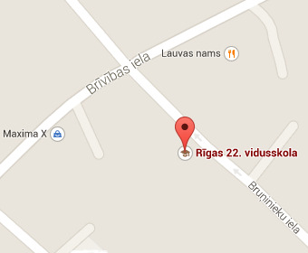 Riga school 22 on the map