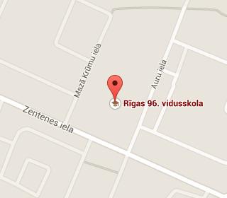 Рижская 96-я средняя школа на карте