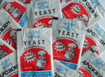Yeast in packs
